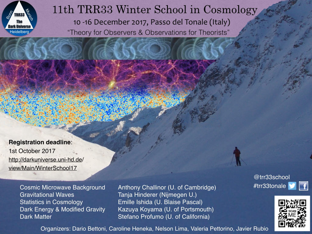 TRR33 Winter School on Cosmology 2017