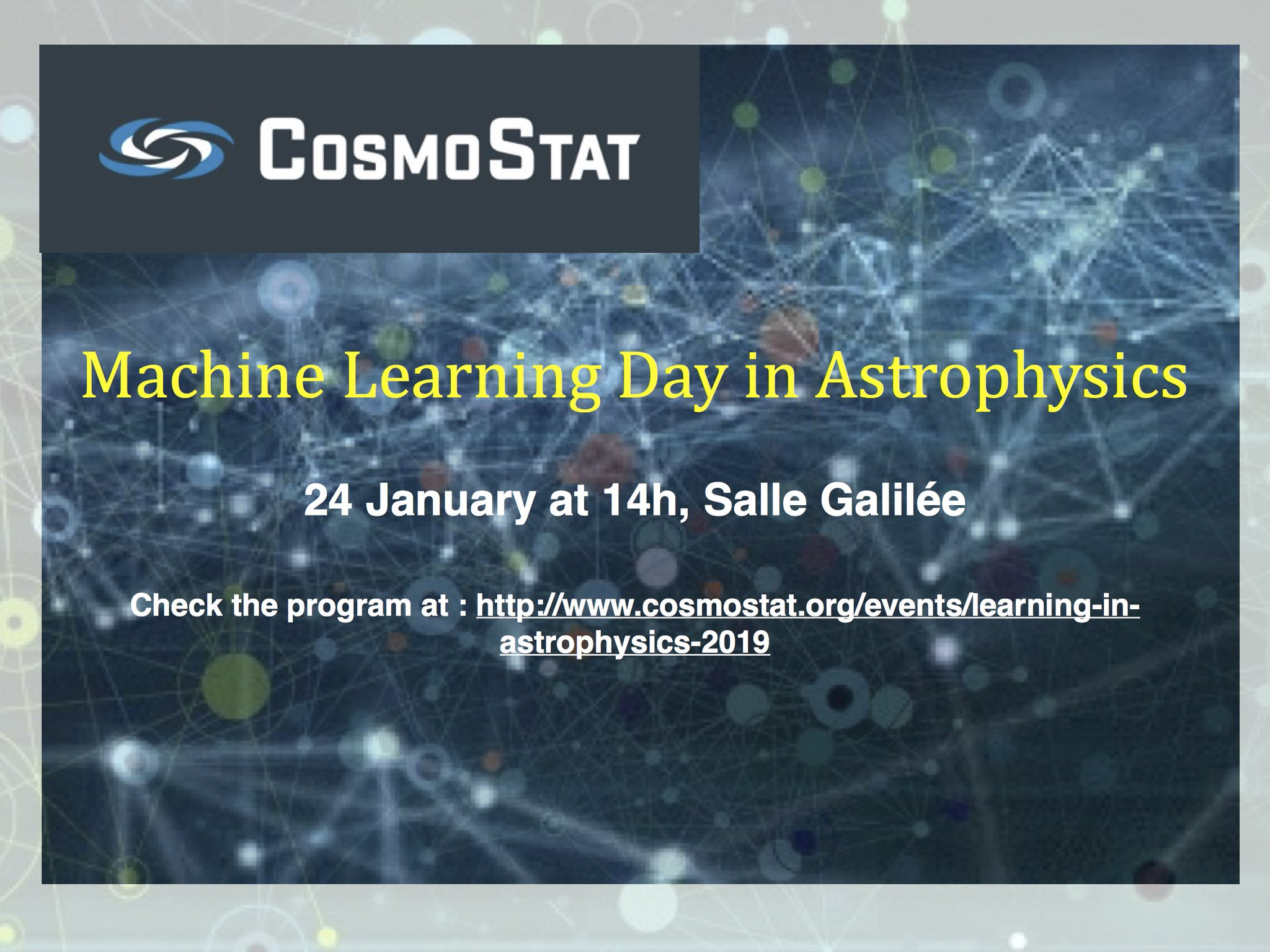 Cosmostat Day on Machine Learning in Astrophysics