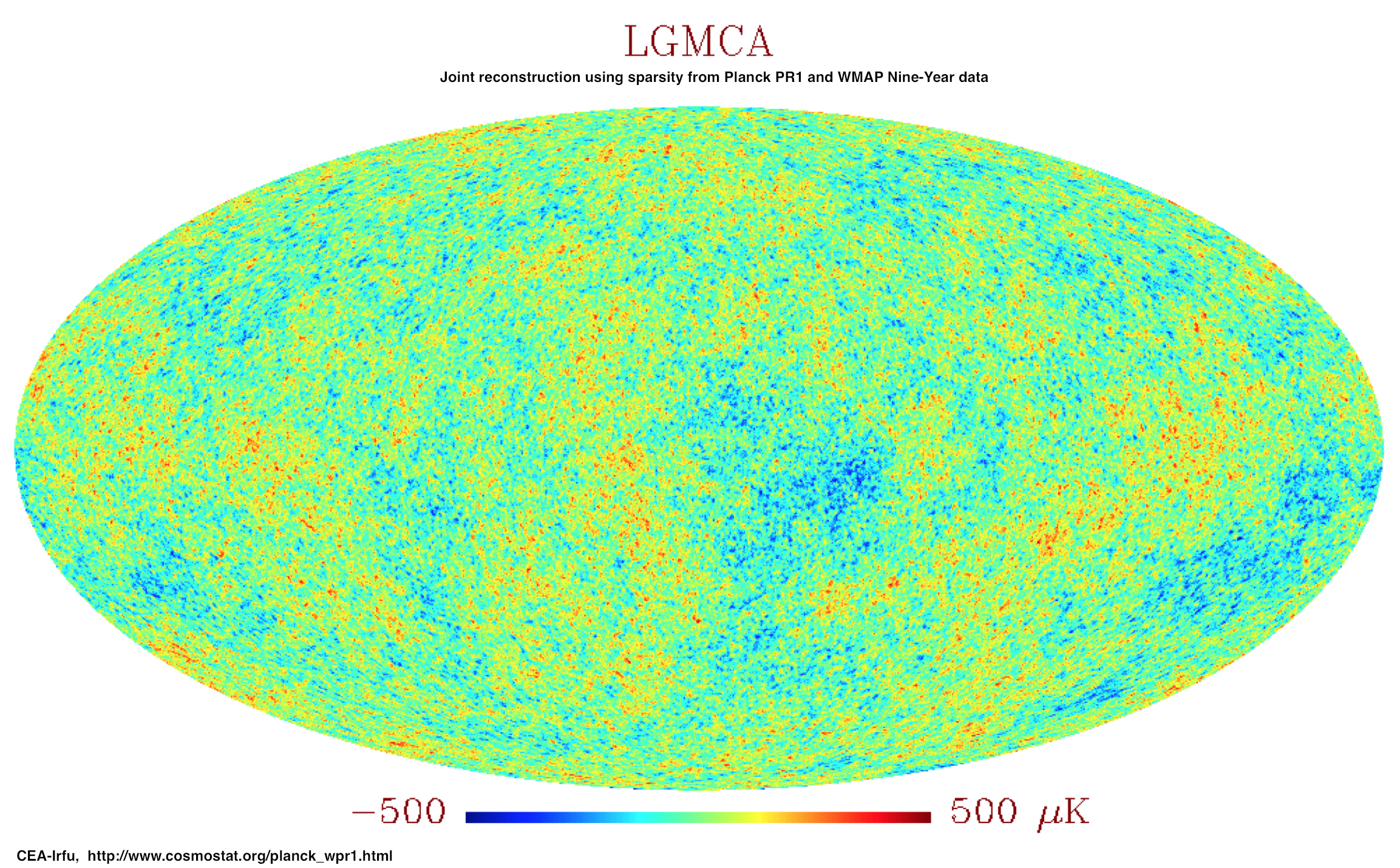 Release of Planck + WMAP CMB map using sparsity.