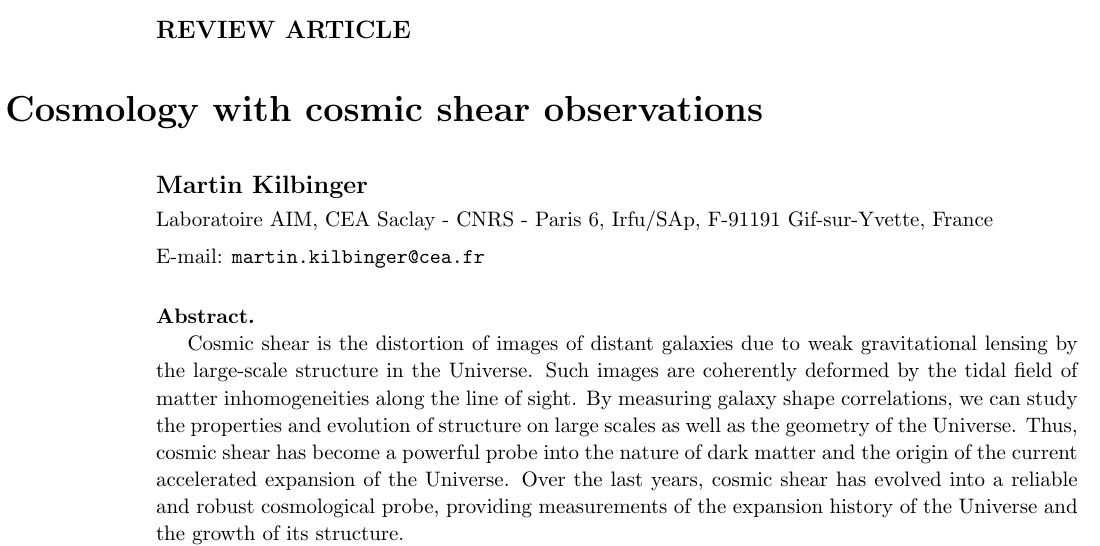 Review: Cosmology from cosmic shear observations