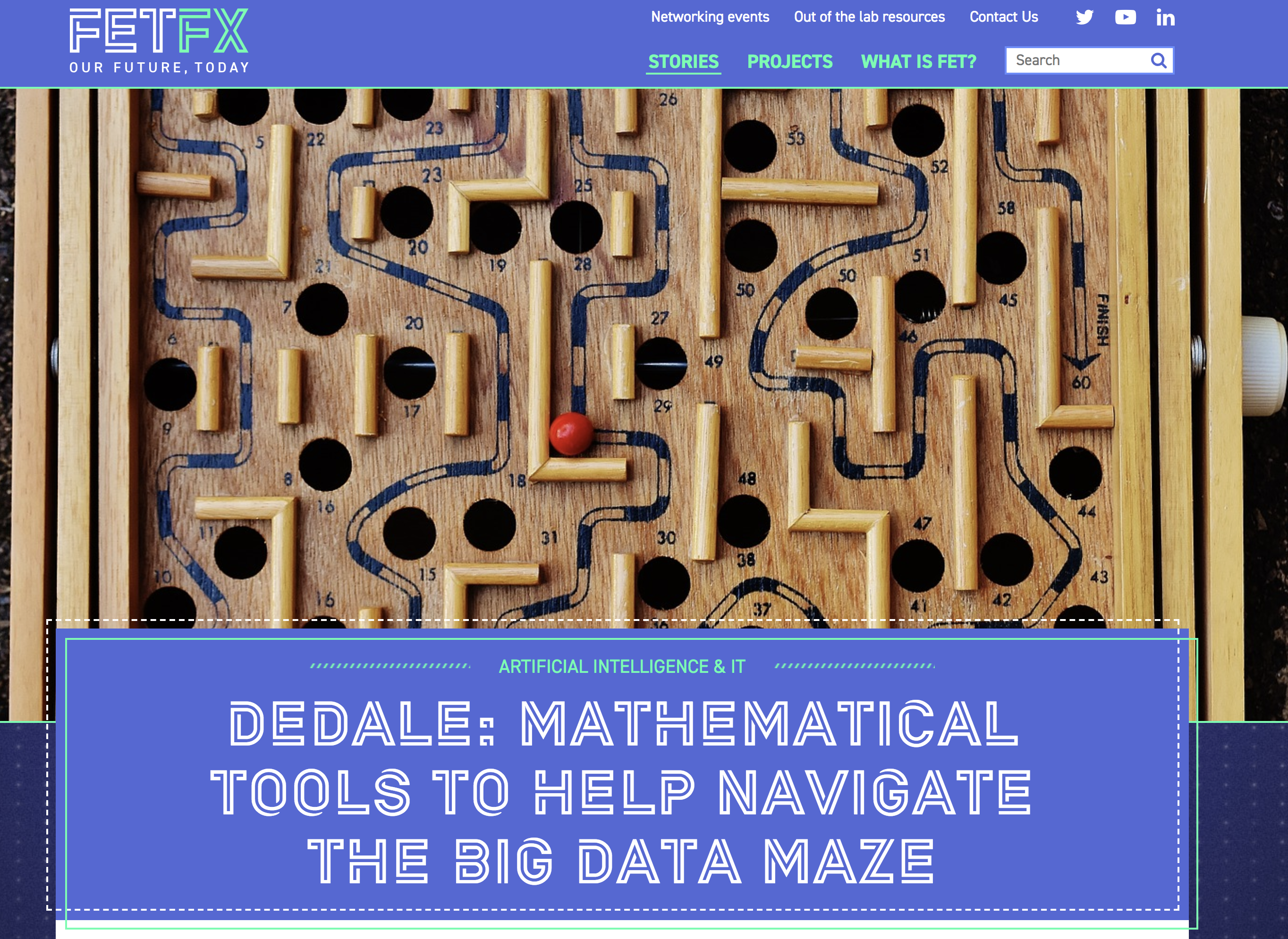 DEDALE: Mathematical Tools to Help Navigate the Big Data Maze